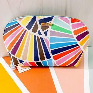 Trina Turk Make Up Case zipper kaleidoscope colors